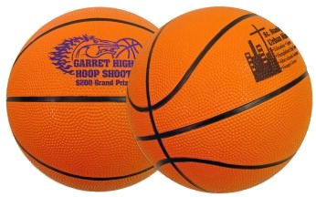 Mini Rubber Basketballs - 7""