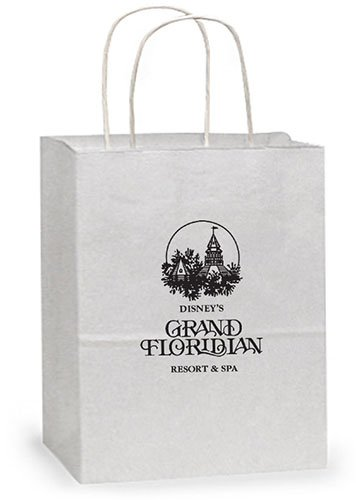 13 x 15.75 White Kraft Paper Shopping Bags