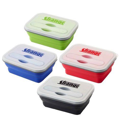 Silicone Collapse-It Lunch Containers