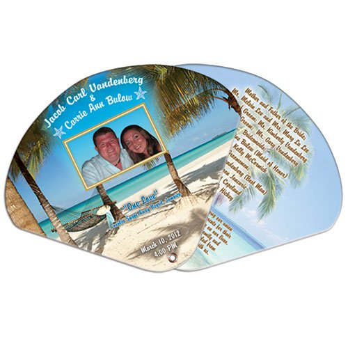 Expandable Two Part High Gloss Wedding Hand Fans