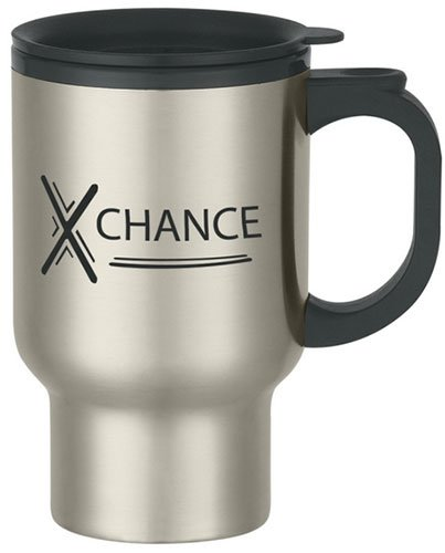 16 oz. Stainless Steel Travel Mugs with Sip Thru Lid