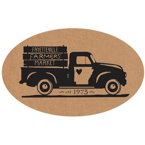 "2""x 3"" Natural Kraft Oval Roll Labels"
