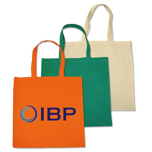 15 x 16 Colorful Biodegradable Budget Cotton Tote Bags