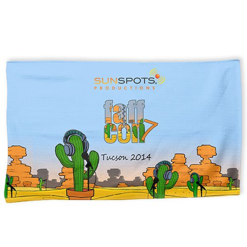 "14"" x 24 "" Full Color Waffle Golf Towels"
