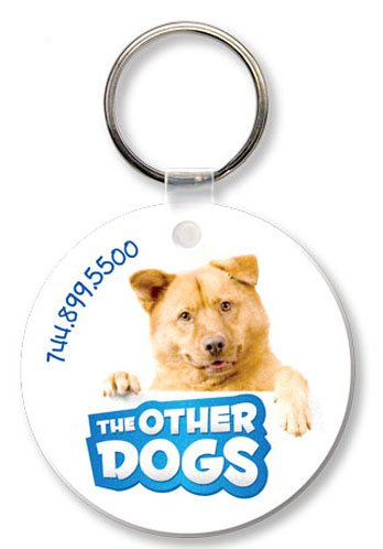 Econo Full Color Flexible Vinyl Round Key Tag