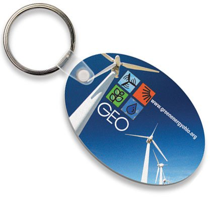 Econo Full Color Flexible Vinyl Oval Key Tag