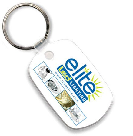 Econo Full Color Flexible Vinyl Standard Oval Key Tag