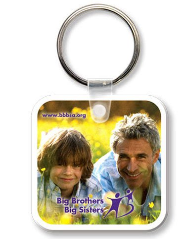 Econo Full Color Flexible Vinyl Rounded Square Key Tag
