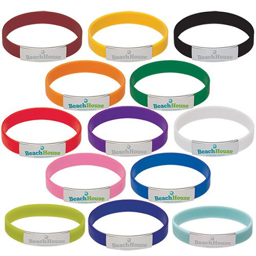 Silicone Bracelets with Metal Accents