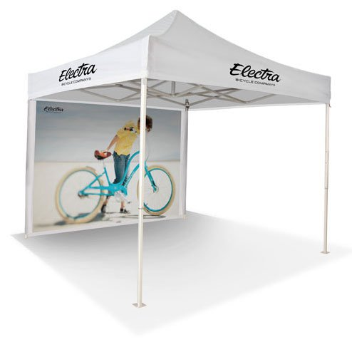 10' Square Event Tent with Printed Wall
