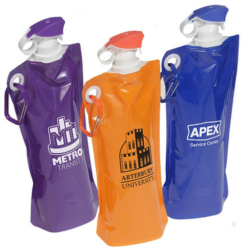 27 oz. Flip Top Folding Water Bottles