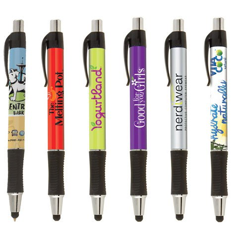 Vision Touch Full Color Retractable Stylus Pens