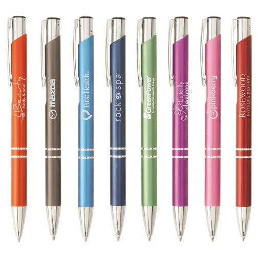 Matte Tres-Chic Laser Engraved Retractable Pens