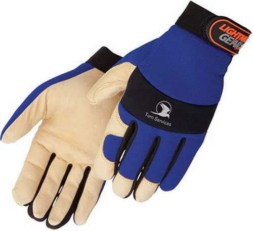 Tan Grain Pigskin Mechanic Gloves