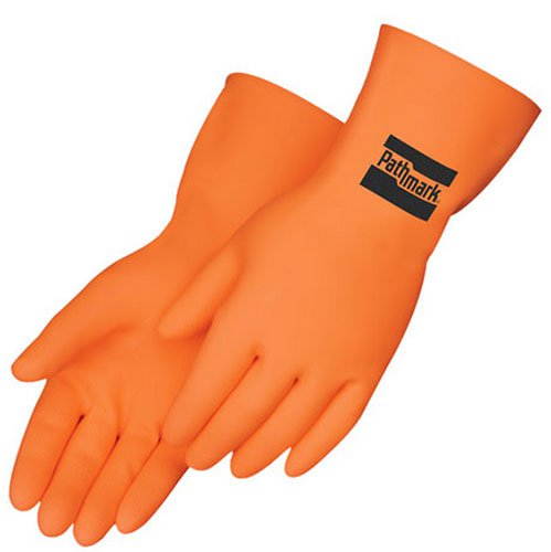 28 mil. Orange Neoprene/Latex Flock Lined Gloves