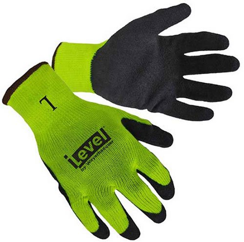 Hi-Viz Lime Textured Latex Coated Gloves