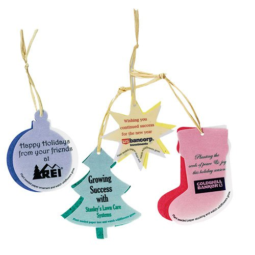 Two-Part Seed Paper Ornaments