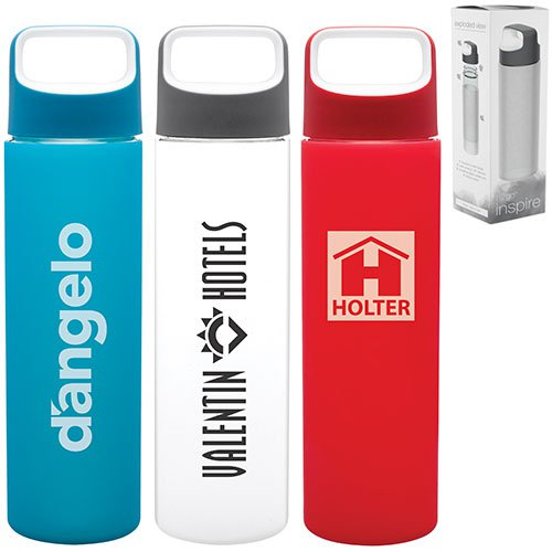 18 oz. h2go Inspire Glass Water Bottles