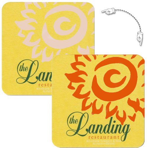 "4"" Square Medium Weight Cold Reveal Pulpboard Coasters - High Quantity"
