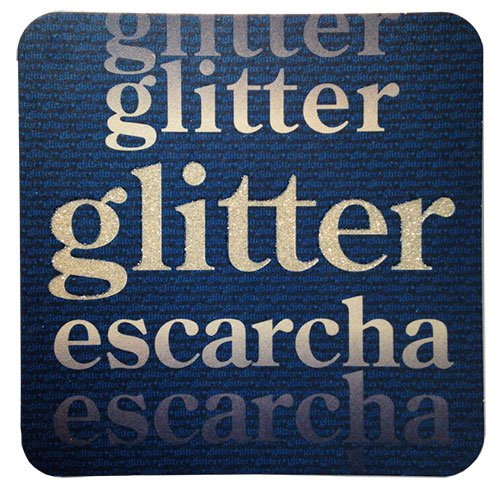 "4"" Square Medium Weight Glitter Pulpboard Coasters - High Quantity"