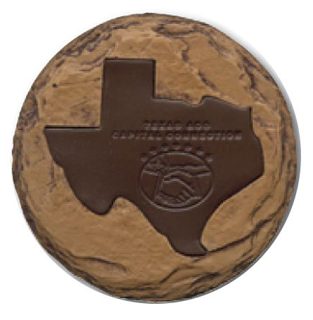 State Shaped Stone and Leather Coasters