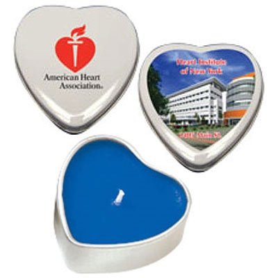 All Natural Soy Candles, Heart Tin