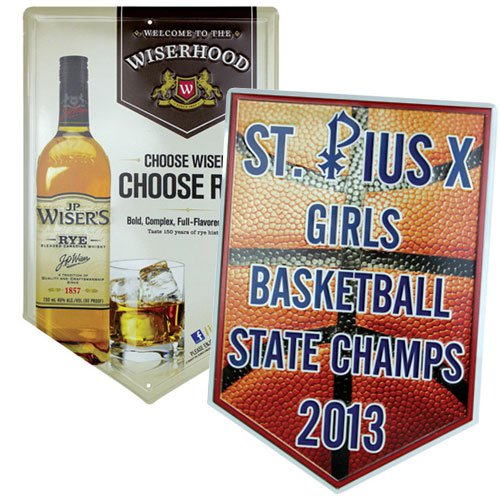 12 x 18 Full Color Embossed Aluminum Banner Sign