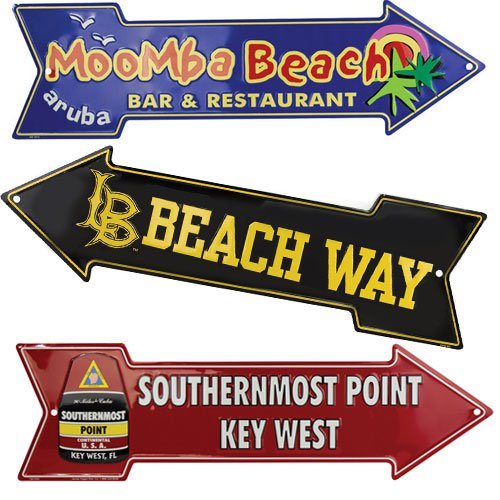 20 x 6 Full Color Embossed Aluminum Arrow Sign