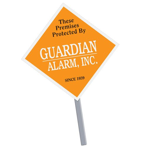 Diamond Security Yard Signs with Optional Stakes