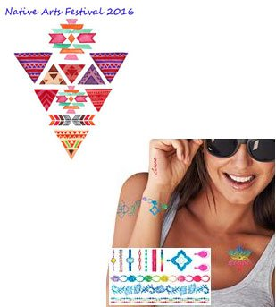 "4"" x 6"" PrismFoil Metallic Temporary Tattoos"