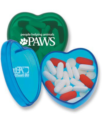 Heart-Shaped Pill Boxes