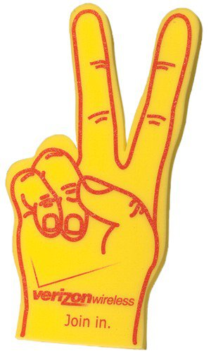 Victory Sign Foam Fingers