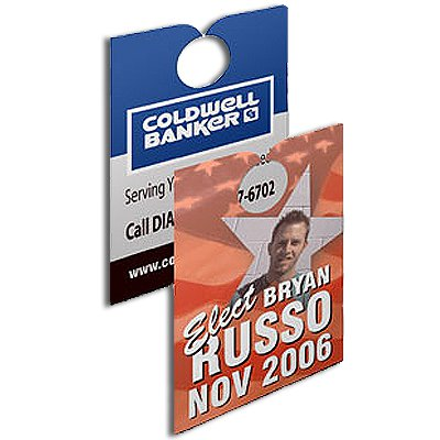 "3-1/2"" x 6-3/4"" Paper Door Hangers - Full Color Process"