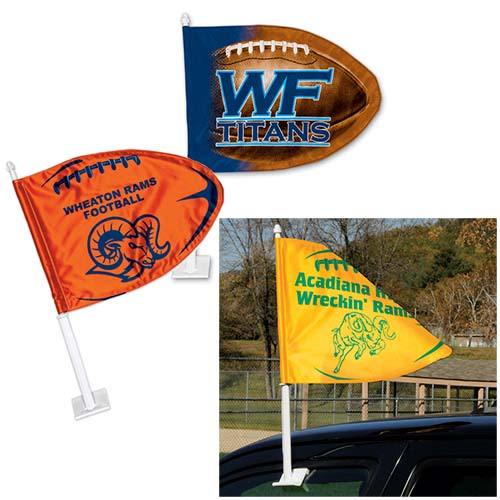 11 x 15 Football Shaped Car Flags