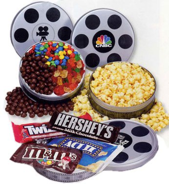 Popcorn & Candies, Small Film Reel Tin