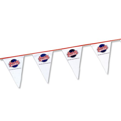 Poly String Pennants, 60 ft. Heavy Duty 8 Mil, Low Quantity