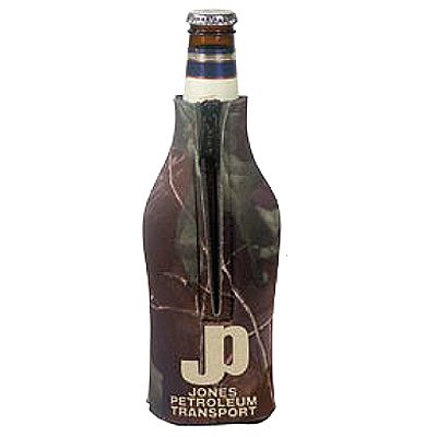 Licensed Camo Zippered Scuba Foam Bottle Holders