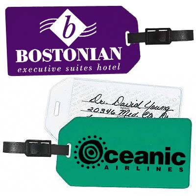 Oversized Soft Vinyl Luggage Tags