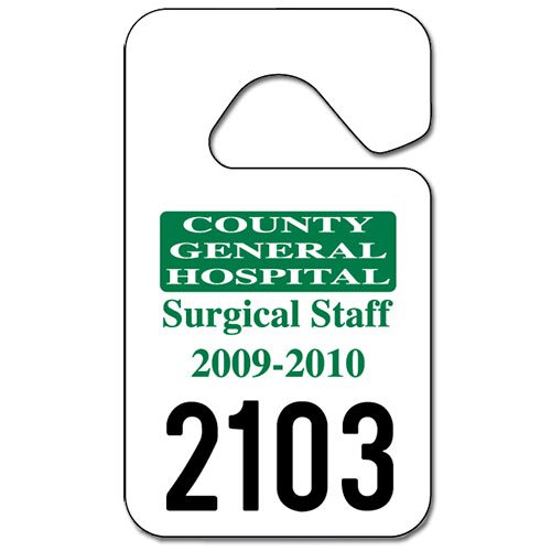 Parking Permit Hang Tags  X   Custom Promotional