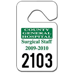 Parking Permit Hang Tags - 2.75 x 4.75