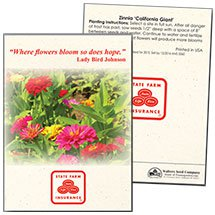 Zinnia 'California Giant' Seed Packets