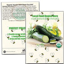 Organic Squash Seed Packets