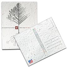 5 x 7 Plantable Seed Paper Postcards