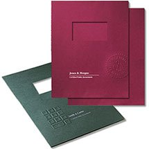 Linen Paper Two Piece Report Cover, Embossed