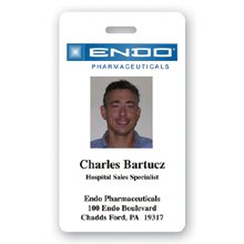 "2"" x 3-1/2"" Full Color Photo-ID Name Badges (Personalized)"