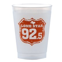 10 oz. Frosted Plastic Cups - Unbreakable