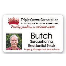 3.38 x 2.13 Full Color Photo-ID Personalized Name Badges