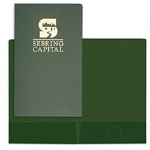 "9-1/2"" x 14-1/2"" Two Pocket Foil Stamped Legal Folders"