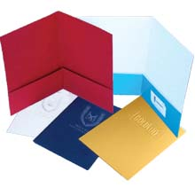 9 x 12 Embossed Presentation Folders - Two Pockets