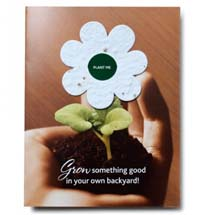4 x 5.25 Greeting Cards with Plantable Seeded Flower